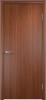 Дверь ламинированная Новинка глухая, итальянский орех (темная)
