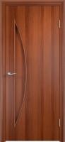Дверь ламинированная Луна глухая, итальянский орех (темная)