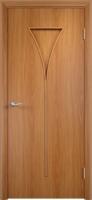 Дверь ламинированная Рюмка глухая, миланский орех (светлая)
