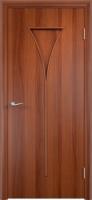 Дверь ламинированная Рюмка глухая, итальянский орех (темная)