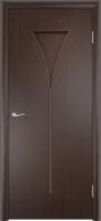 Дверь ламинированная Рюмка глухая, венге (черная)