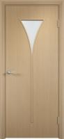 Дверь ламинированная Рюмка со стеклом (стекло матовое), беленый дуб