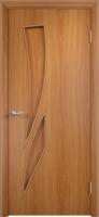 Дверь ламинированная Стрилиция глухая, миланский орех (светлая)