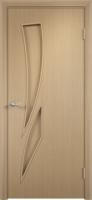 Дверь ламинированная Стрилиция глухая, беленый дуб