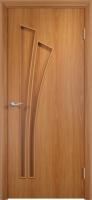 Дверь ламинированная Орхидея глухая, миланский орех (светлая)