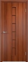 Дверь ламинированная Японка глухая, итальянский орех (темная)