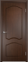 Дверь пвх  Лилия межкомнатная глухая, венге (черная)