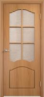 """Дверь пвх  Лилия межкомнатная со стеклом (стекло бронзовое """"Водопад""""), миланский орех (светлая)"""