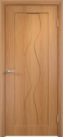 Дверь пвх  Водопад межкомнатная глухая, миланский орех (светлая)