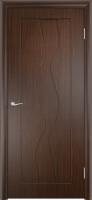 Дверь пвх  Водопад межкомнатная глухая, венге (черная)