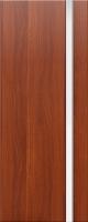 Дверь пвх Веста1 межкомнатная со стеклом триплекс (белое матовое), итальянский орех (светлая)