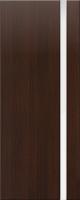 Дверь пвх Веста1 межкомнатная со стеклом триплекс (белое матовое), венге (черная)