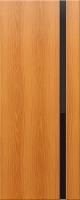 Дверь пвх Веста1 межкомнатная со стеклом триплекс (черное), миланский орех (светлая)