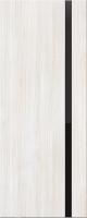 Дверь пвх Веста1 межкомнатная со стеклом триплекс (черное), беленый дуб