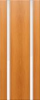 Дверь пвх Веста2 межкомнатная со стеклом триплекс (белое матовое), миланский орех (светлая)