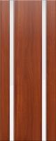 Дверь пвх Веста2 межкомнатная со стеклом триплекс (белое матовое), итальянский орех (светлая)