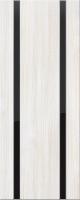 Дверь пвх Веста2 межкомнатная со стеклом триплекс (черное), беленый дуб