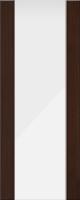 Дверь пвх Веста3 межкомнатная со стеклом триплекс (белое матовое), венге (черная)