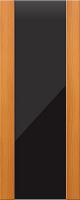 Дверь пвх Веста3 межкомнатная со стеклом триплекс (черное), миланский орех (светлая)