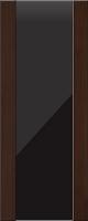 Дверь пвх Веста3 межкомнатная со стеклом триплекс (черное), венге (черная)