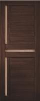 Дверь Экошпон Стиль  5 (S-5) межкомнатная со стеклом (стекло белое матовое), венге