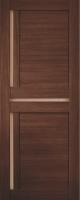 Дверь Экошпон Стиль  5 (S-5) межкомнатная со стеклом (стекло белое матовое), орех