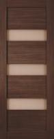 Дверь Экошпон Стиль  8-2 (S-8-2) межкомнатная со стеклом (стекло белое матовое), орех