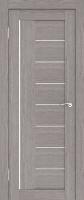 Дверь Экошпон Стиль  9 (S-9) межкомнатная со стеклом (стекло белое матовое) и молдингом, неапль (серый)