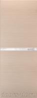 Дверь Экошпон ЭЛИТ Q 2 межкомнатная глухая со стеклом триплекс белое матовое, беленый дуб