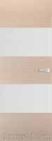 Дверь Экошпон ЭЛИТ Q 3 межкомнатная глухая со стеклом триплекс белое матовое, беленый дуб