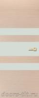 Дверь Экошпон ЭЛИТ Q 6 межкомнатная глухая со стеклом триплекс белое матовое, беленый дуб