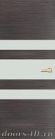 Дверь Экошпон ЭЛИТ Q 6 межкомнатная глухая со стеклом триплекс белое матовое, серый