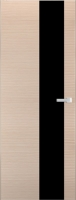 Дверь Экошпон ЭЛИТ Q 8 межкомнатная глухая со стеклом триплекс белое матовое, беленый дуб