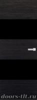 Дверь Экошпон ЭЛИТ Q 3 межкомнатная глухая со стеклом триплекс черное, венге
