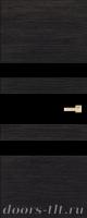 Дверь Экошпон ЭЛИТ Q 6 межкомнатная глухая со стеклом триплекс черное, венге