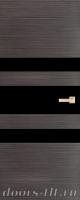 Дверь Экошпон ЭЛИТ Q 6 межкомнатная глухая со стеклом триплекс черное, серый