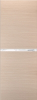 Дверь Экошпон G 2 межкомнатная глухая со стеклом триплекс белое матовое, беленый дуб