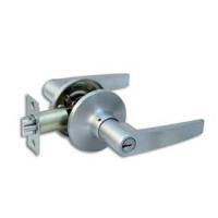 Ручка-защелка 350 ET D KNOB цвет никель с ключом для межкомнатной двери