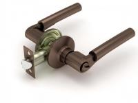 Ручка-защелка 404 BK R KNOB цвет медь с фиксатором для межкомнатной двери