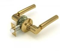 Ручка-защелка 404 PS P KNOB цвет золото без фиксатора для межкомнатной двери