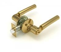 Ручка-защелка 404 BK P KNOB цвет золото с фиксатором для межкомнатной двери
