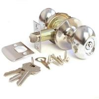 Ручка-защелка 619 ET S KNOB цвет хром блеск с ключом для межкомнатной двери