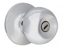 Ручка-шарик  цвет никель с фиксатором для межкомнатной двери