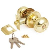 Ручка-шарик  цвет золото с ключом для межкомнатной двери