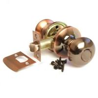 Ручка-шарик  цвет медь без фиксатора для межкомнатной двери