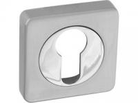 Накладки на цилиндр POL-KH SN/CP цвет матовый никель (квадратная) для межкомнатной двери
