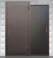 Входная металлическая дверь Строй Гост 7-1, венге