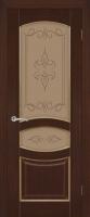 Дверь Топаз III шпонированная межкомнатная со стеклом, каштан