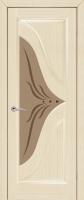 Дверь Корунд шпонированная межкомнатная со стеклом, беленый дуб