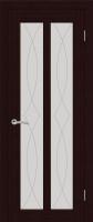 Дверь Крит шпонированная межкомнатная со стеклом, венге